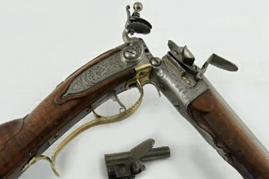 Breech-loading flintlock rifle, Johann Michael, Bohemia (Kuks), 1st half of the 18th century
