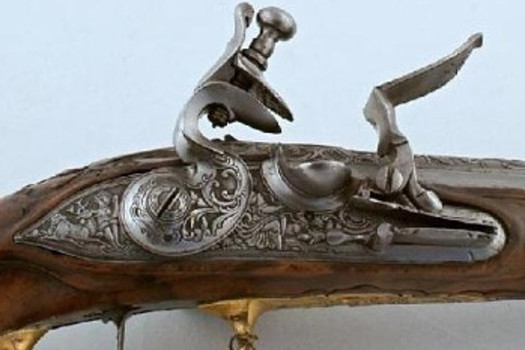 Hunting flintlock pistol, Johann Andreas Kuchenreiter, Germany (Regensburg), 2nd half of the 18th century
